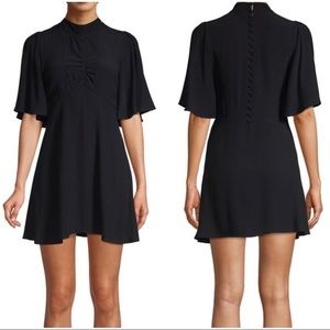 Free People Be My Baby Ruched Mini Dress NWT Sz 0